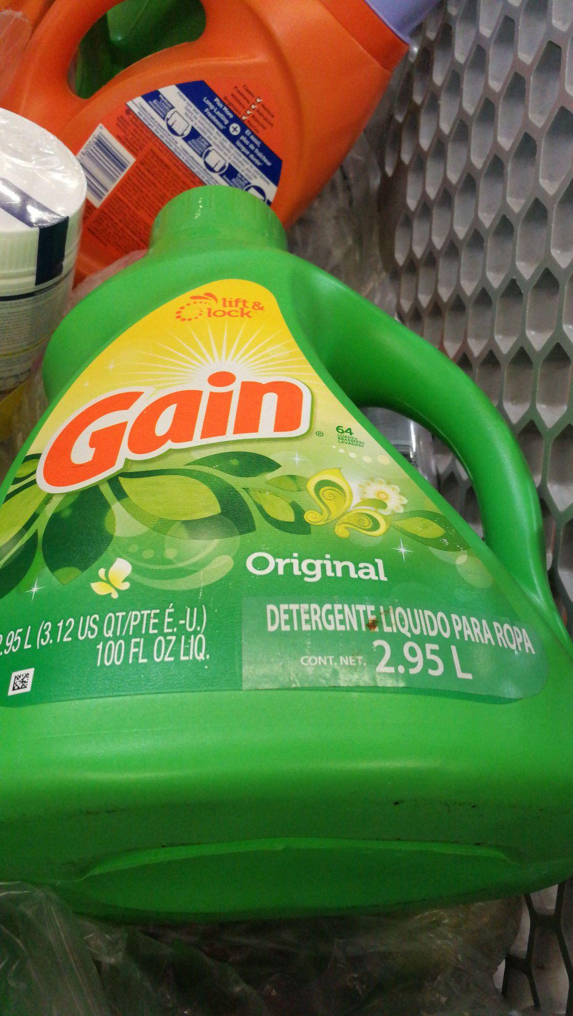Walmart Cd Carmen: Detergente Gain 2.95L a $53.01