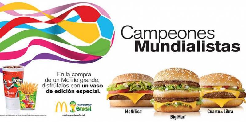 McDonald's: gratis McFlurry y vaso del mundial gratis comprando McTrío