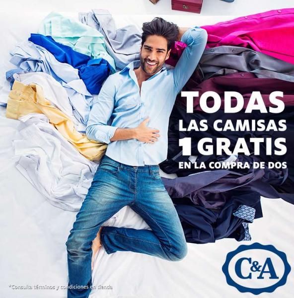 C&A: 3x2 en todas las camisas
