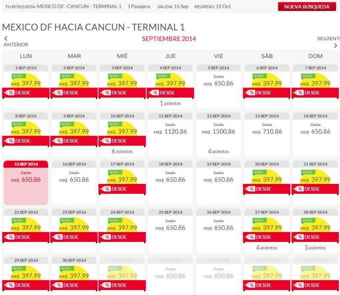 Vivaaerobus: vuelos redondos $796 incluyendo del DF a Cancún