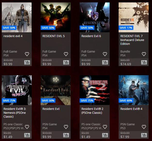 PSN Store: Oferta Semanal Ps Plus Specials y de Resident Evil