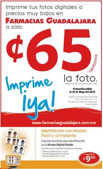 Farmacias Guadalajara: fotos a 65 centavos imprimiendo 50