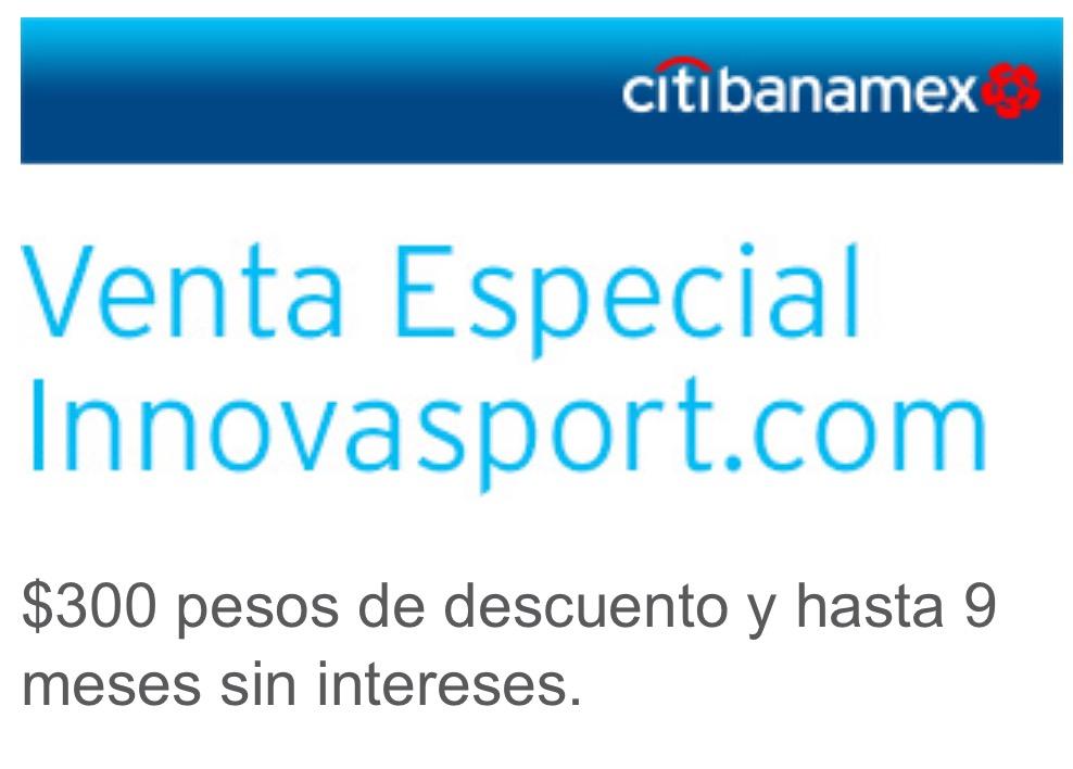 Innovasport: $300 de descuento en compras mayores a $1,599 pagando con Citibanamex