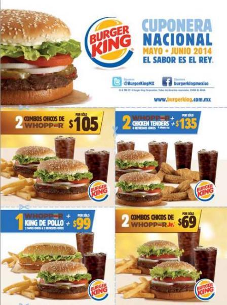 Cupones para Burger King