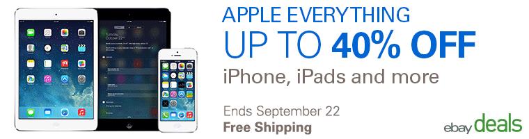 ebay: venta especial de productos Apple