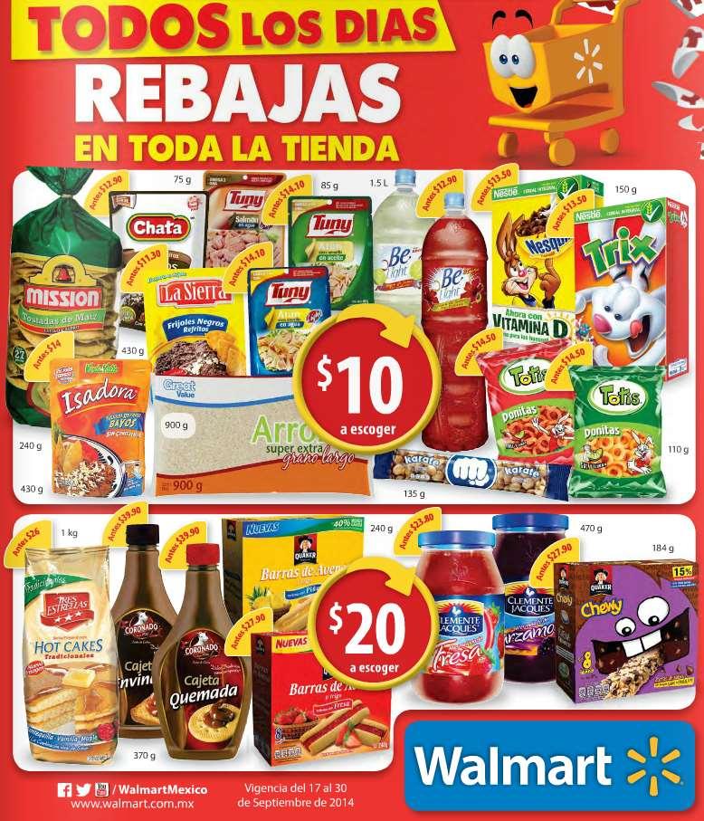 Folleto de ofertas en Walmart del 17 al 30 de septiembre