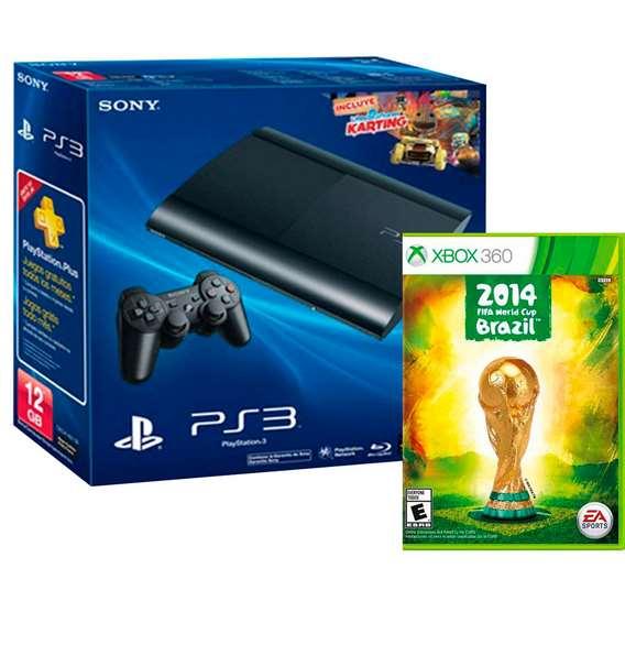 Walmart: PS3 de 12GB con LBPK y juego del mundial $3,141 o con SSFIV y Tomb Raider Trilogy $2,691