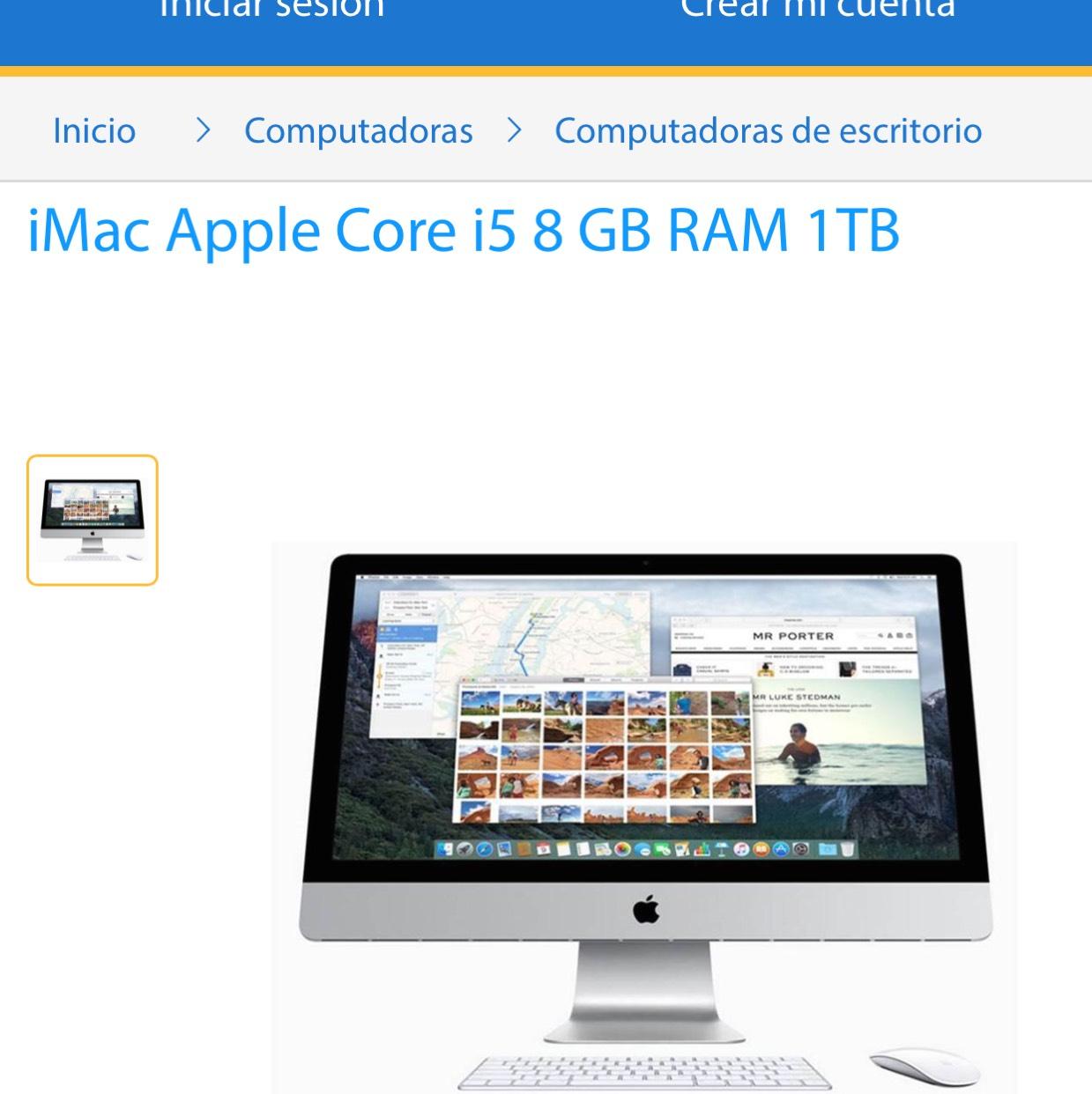 Walmart: iMac 21 pulgadas Core i5 8gb RAM 1 TB