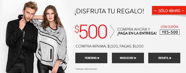 Dafiti: cupón de descuento de $500 en compras de $1,500 o más