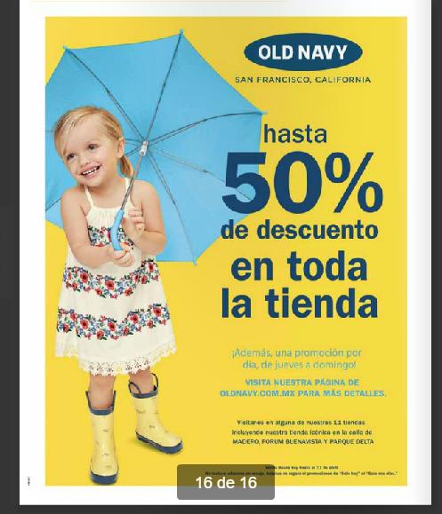 Old Navy: Hasta 50% de descuento y una oferta por día de jueves a domingo