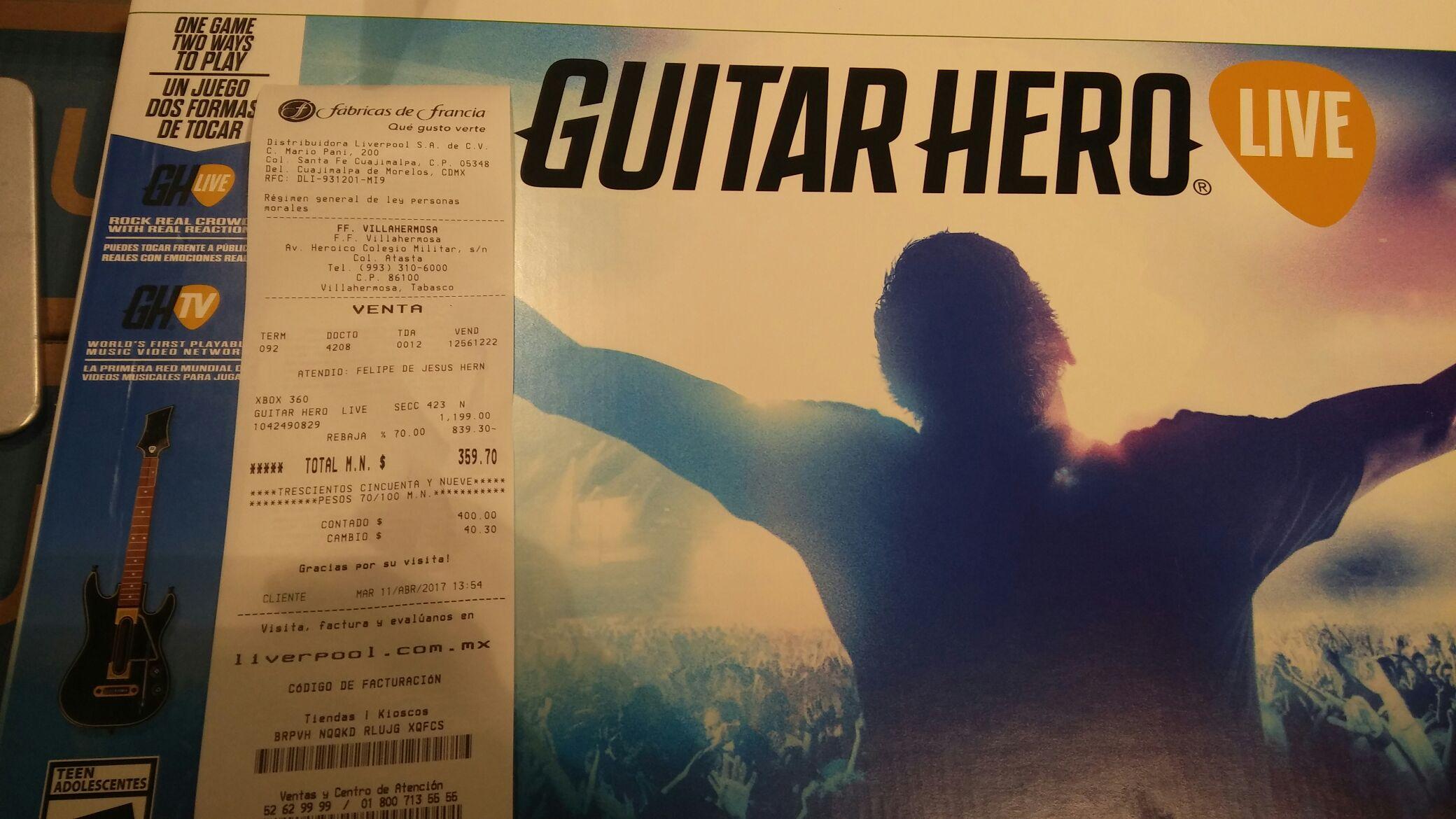 Fábricas de Francia: Guitar hero xbox 360