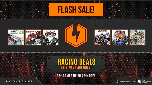 PlayStation Store oferta flash: hasta 75% de descuento en juegos de carreras