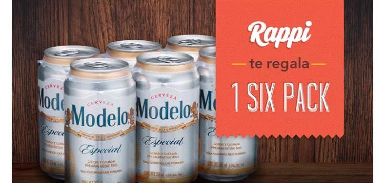 Rappi: six pack de cerveza gratis