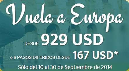 Vuelo redondo a París, Madrid, Roma o Barcelona US$929, Turquía o Israel $999 y más