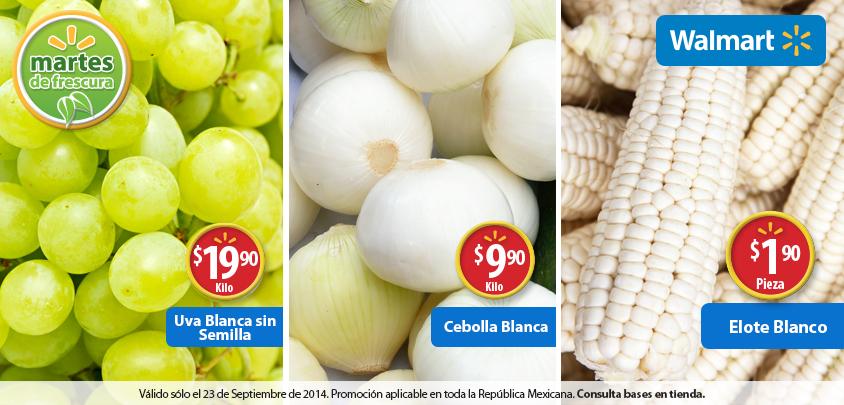 Martes de frescura en Walmart septiembre 23: Uva Blanca $19.90 y mas