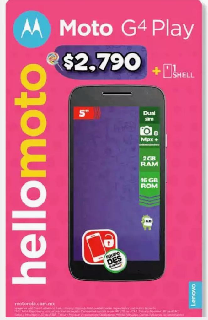 Bodega Aurrerá: Motorola G4 Play