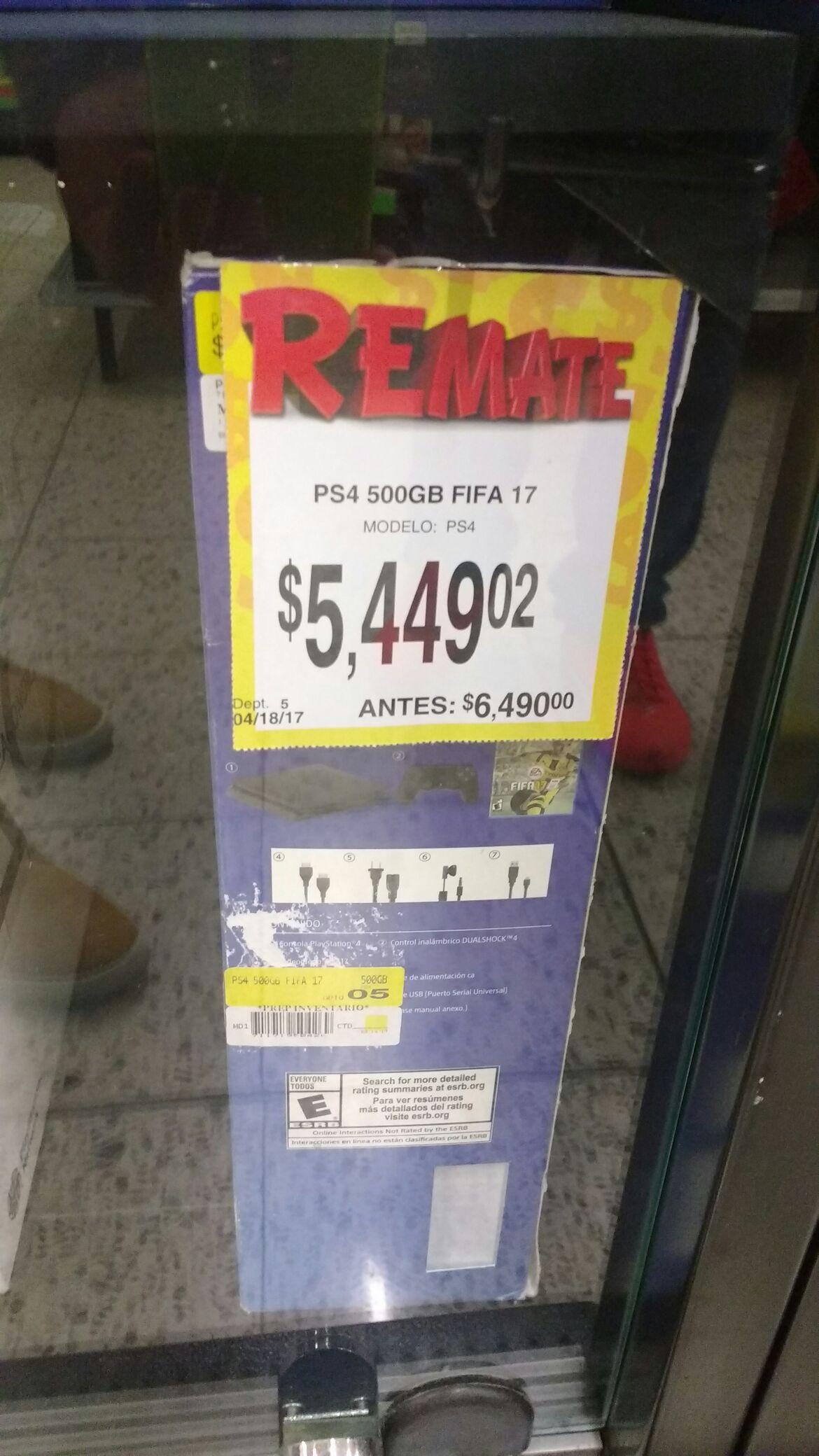 Bodega Aurrerá: consola PS4 Slim 500GB con FIFA 17 a $5,449.02
