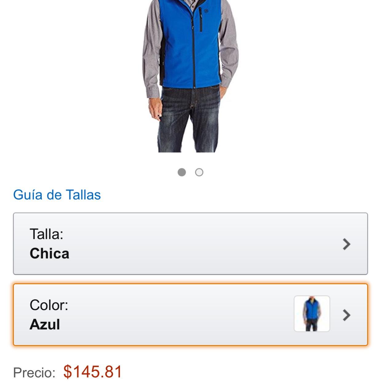 Amazon: Chaleco wrangler talla chica