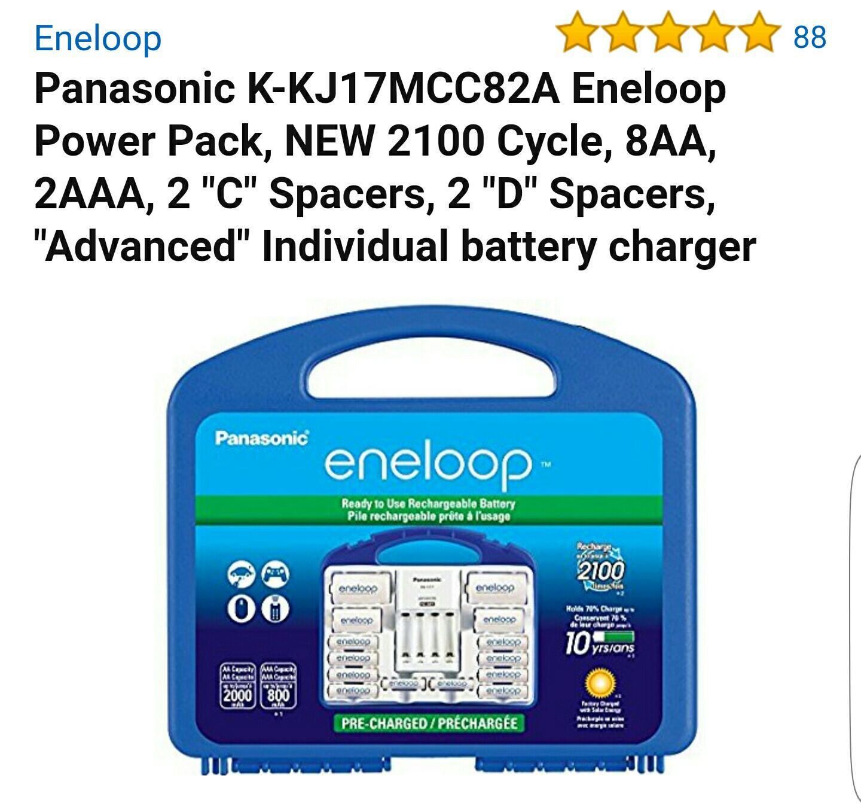 Amazon MX: Pilas recargables Eneloop 8AA, 2AAA + 2 adaptadores C y D
