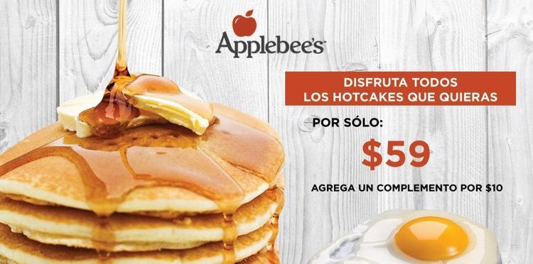 Applebee's Mty: Todos los Hotcakes que puedas comer por $59