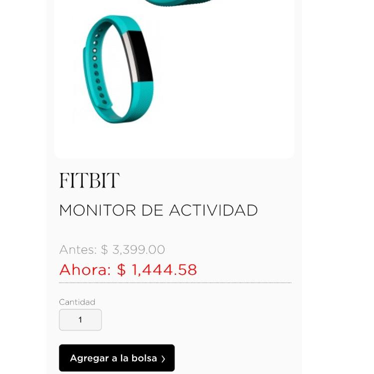 Palacio de Hierro: FitBit alta Monitor de actividad