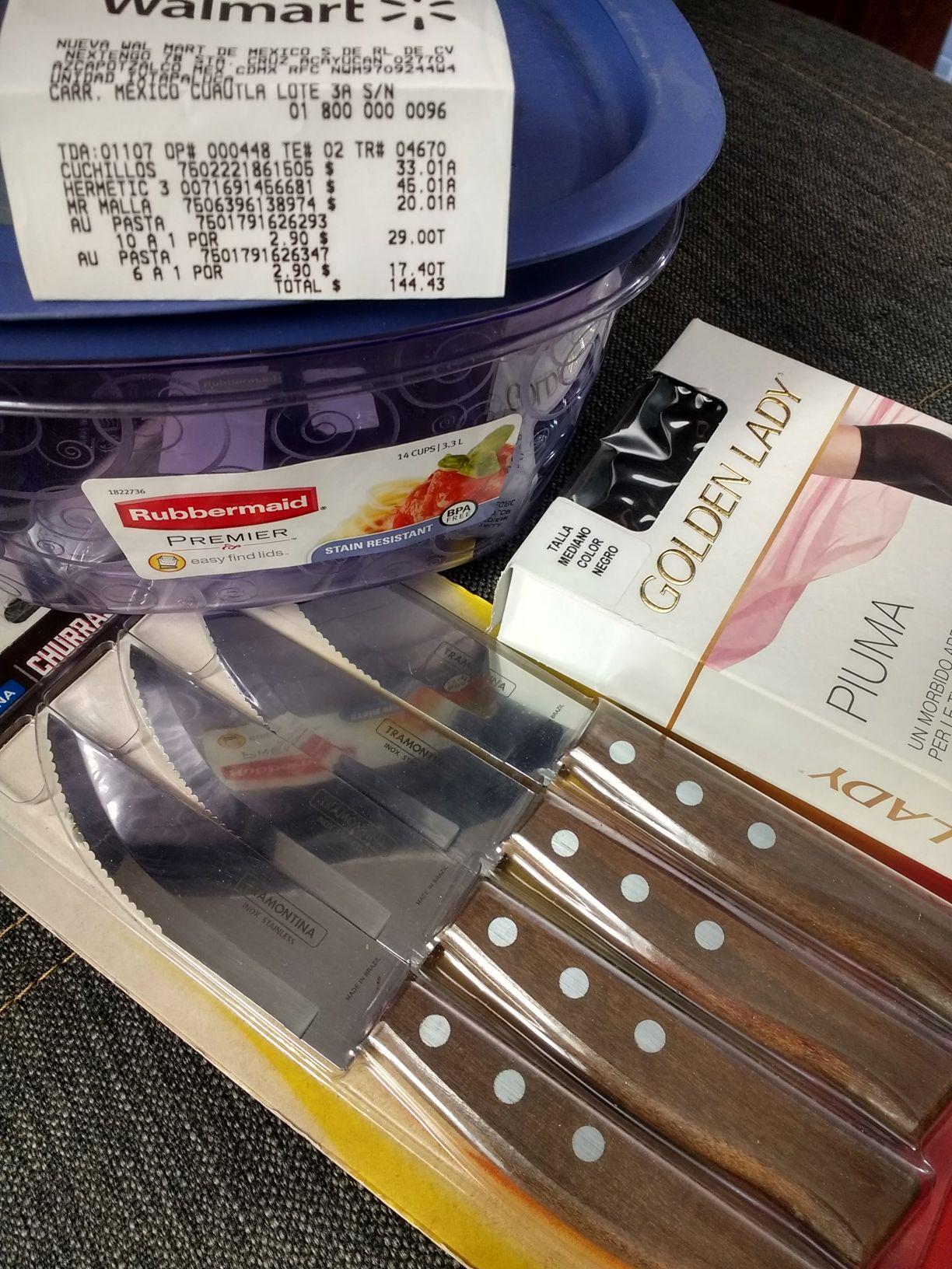 Walmart: Rubbermaid a $45.01, Tramontina y mallas en última liquidación