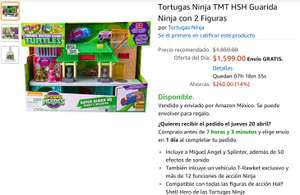 Amazon: Tortugas Ninja TMT HSH Guarida Ninja con 2 Figuras