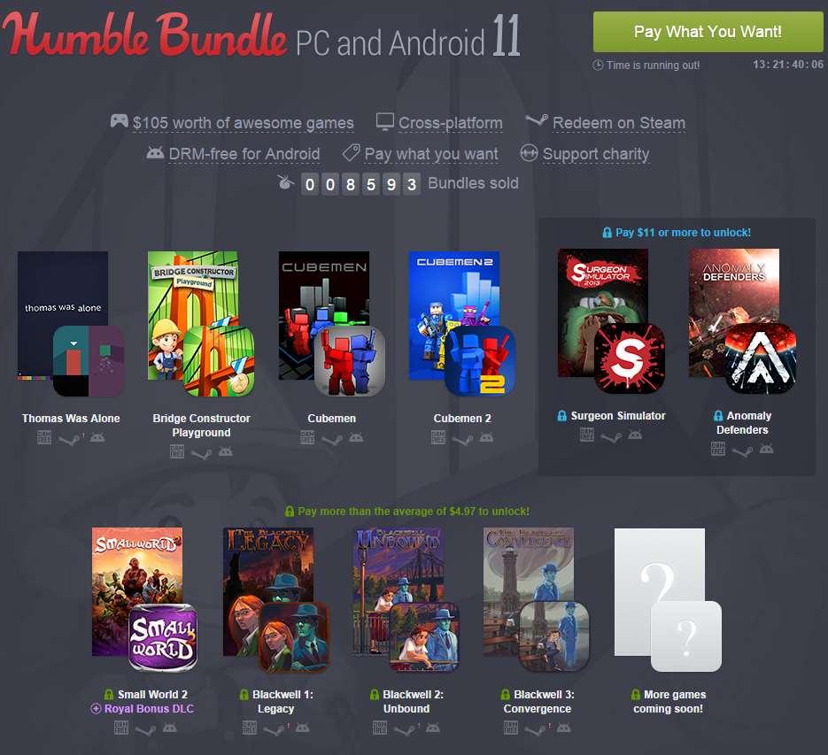 Nuevo Humble Bundle PC y Android