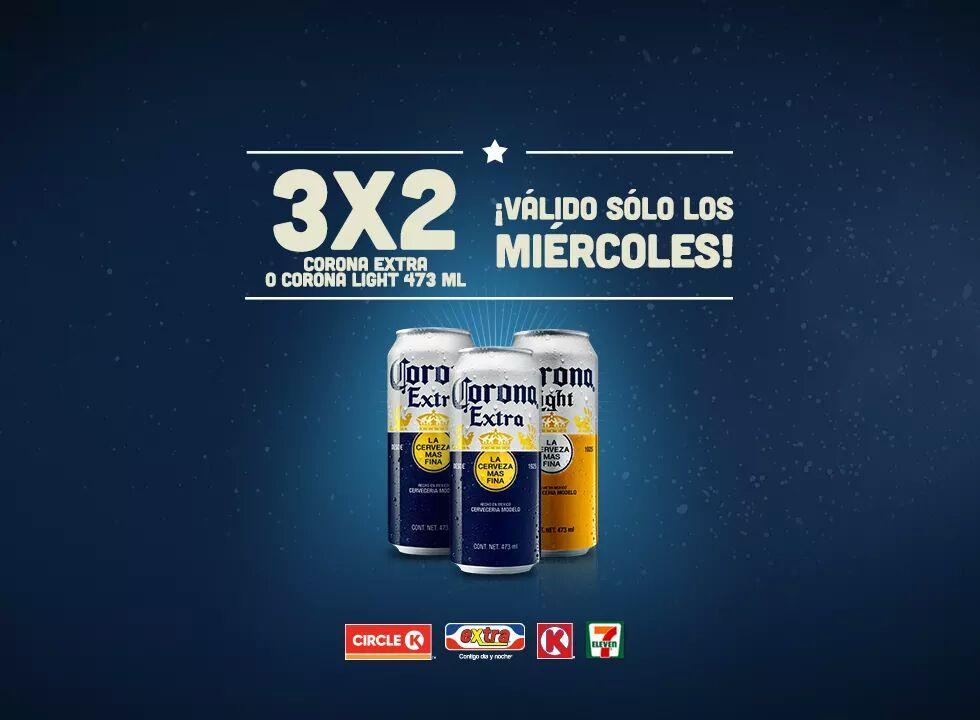 3x2 Corona Extra sólo los miércoles en 7-Eleven, Extra y más tiendas