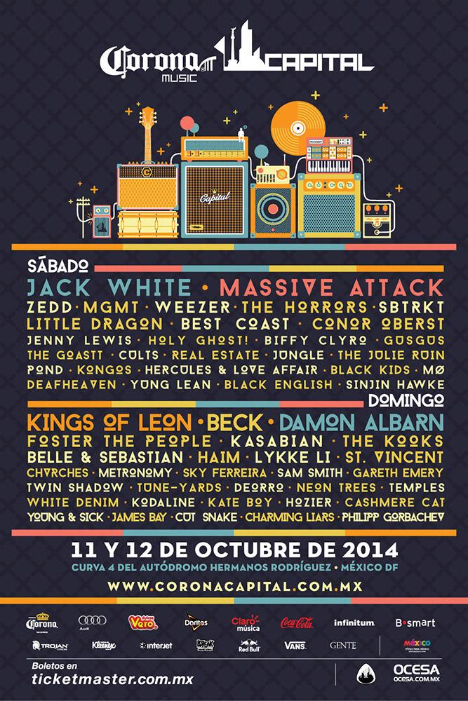 Boleto gratis para Festival de Música Corona Music Capital comprando 168 cervezas