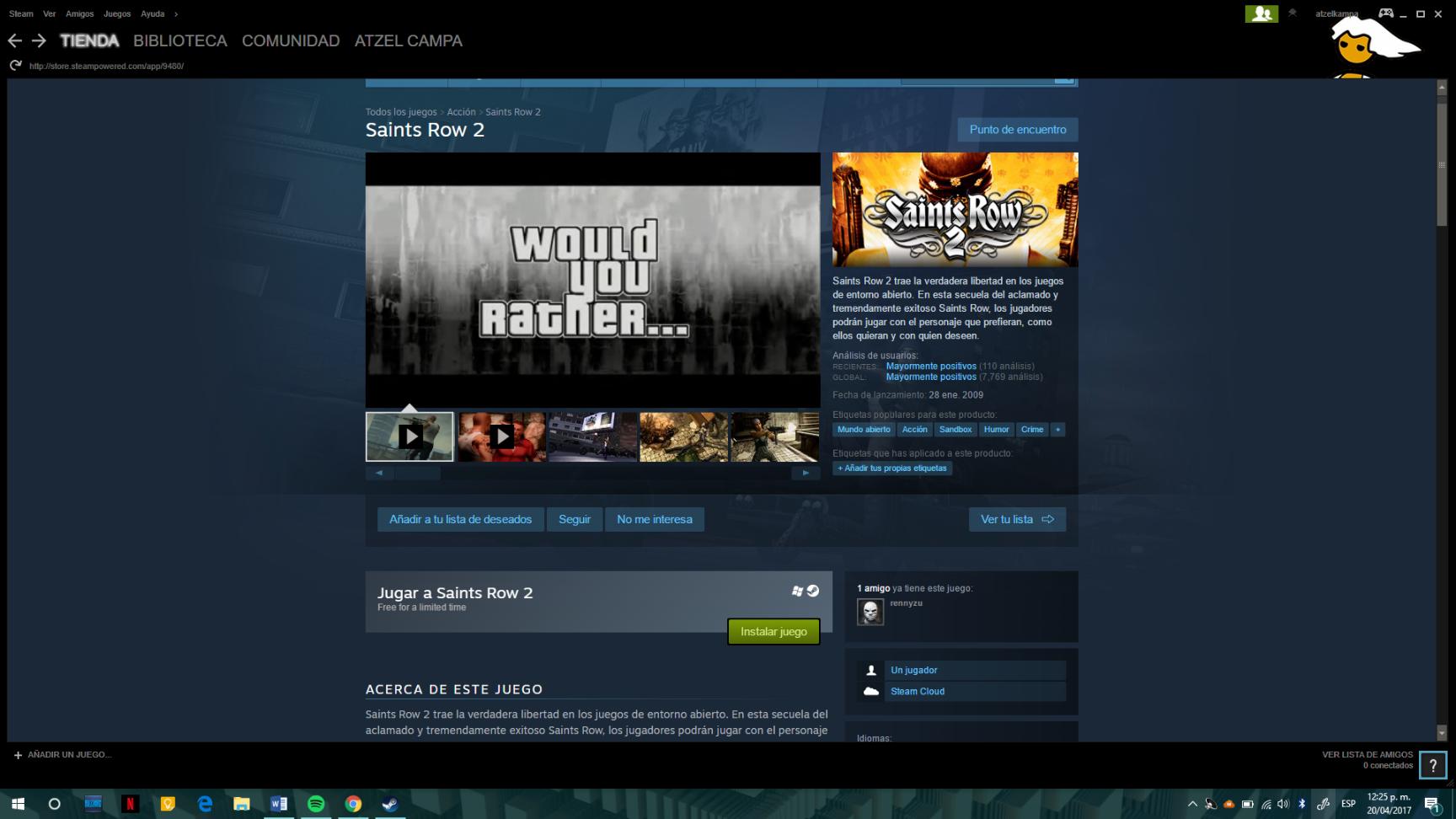 Steam: Saints Row 2 GRATIS por tiempo limitado