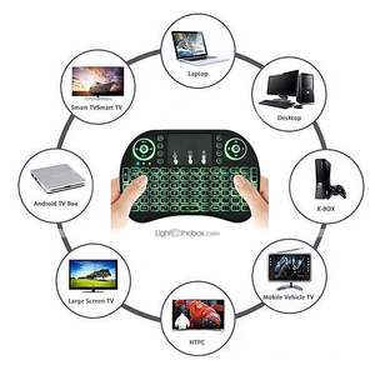 lightinthebox.com: mini teclado inalámbrico táctil para Android Smart TV - baterias recargables