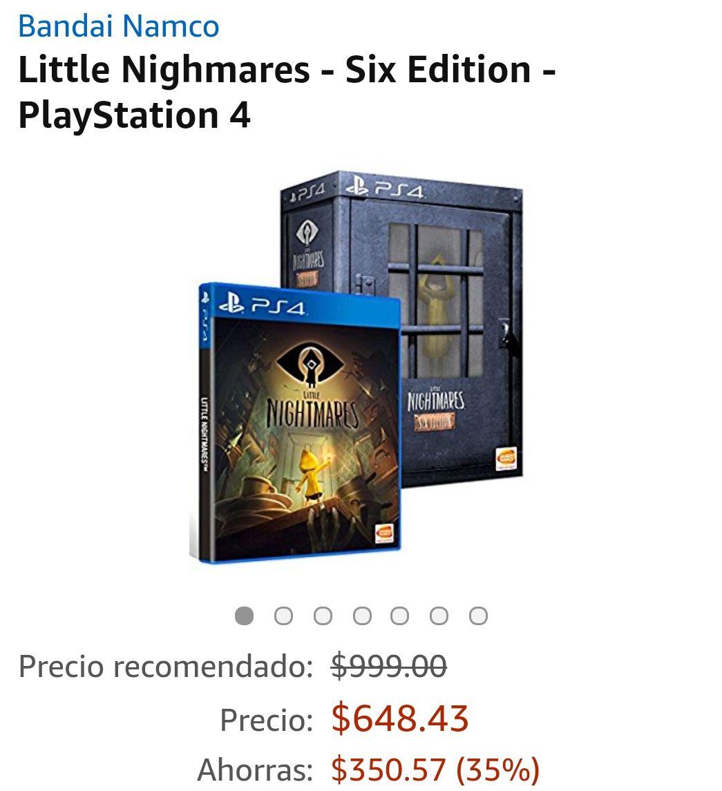 Amazon MX Little nightmares Six Edition PS4/ONE (o menos con Mastercard)