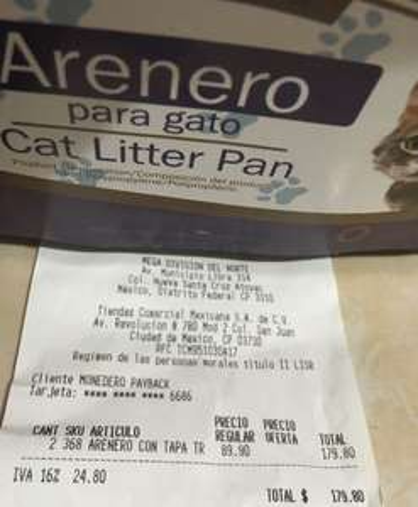Mega Soriana: Arenero para gato en $89.90