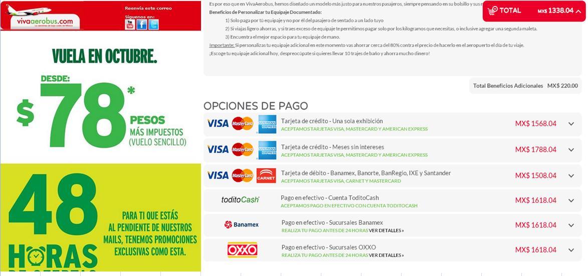 Vivaerobus: vuelos desde $78 + impuestos (redondo DF a Cancún desde $1,338 total)