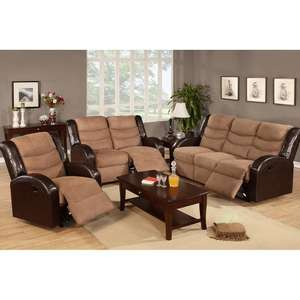Amazon: Loveseat reclinable F6661, color cafe