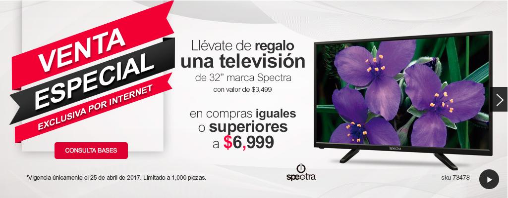 """Office Depot: Pantalla Spectra 32"""" en compras de $6999 o superiores (sólo por internet)"""