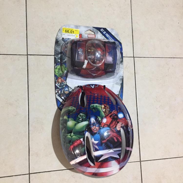 Bodega Aurrerá Set de casco, rodilleras y coderas de Avengers a $66.01