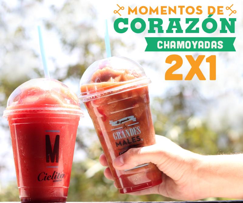 Cielito Querido: 2x1 en Chamoyadas tamaño mediano y grande del 27 de abril al 1 de mayo, de las 2pm a 6pm