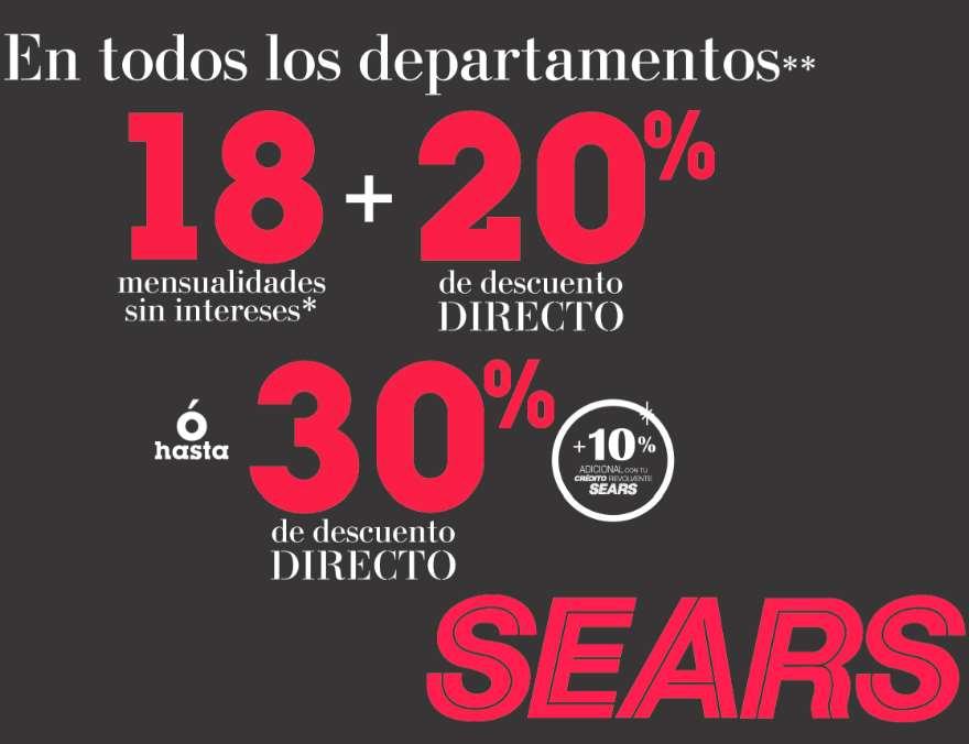 Sears: venta especial de otoño