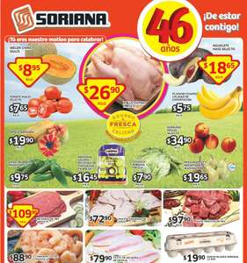Soriana: ofertas de frutas y verdutas del 30 de septiembre al 2 de octubre