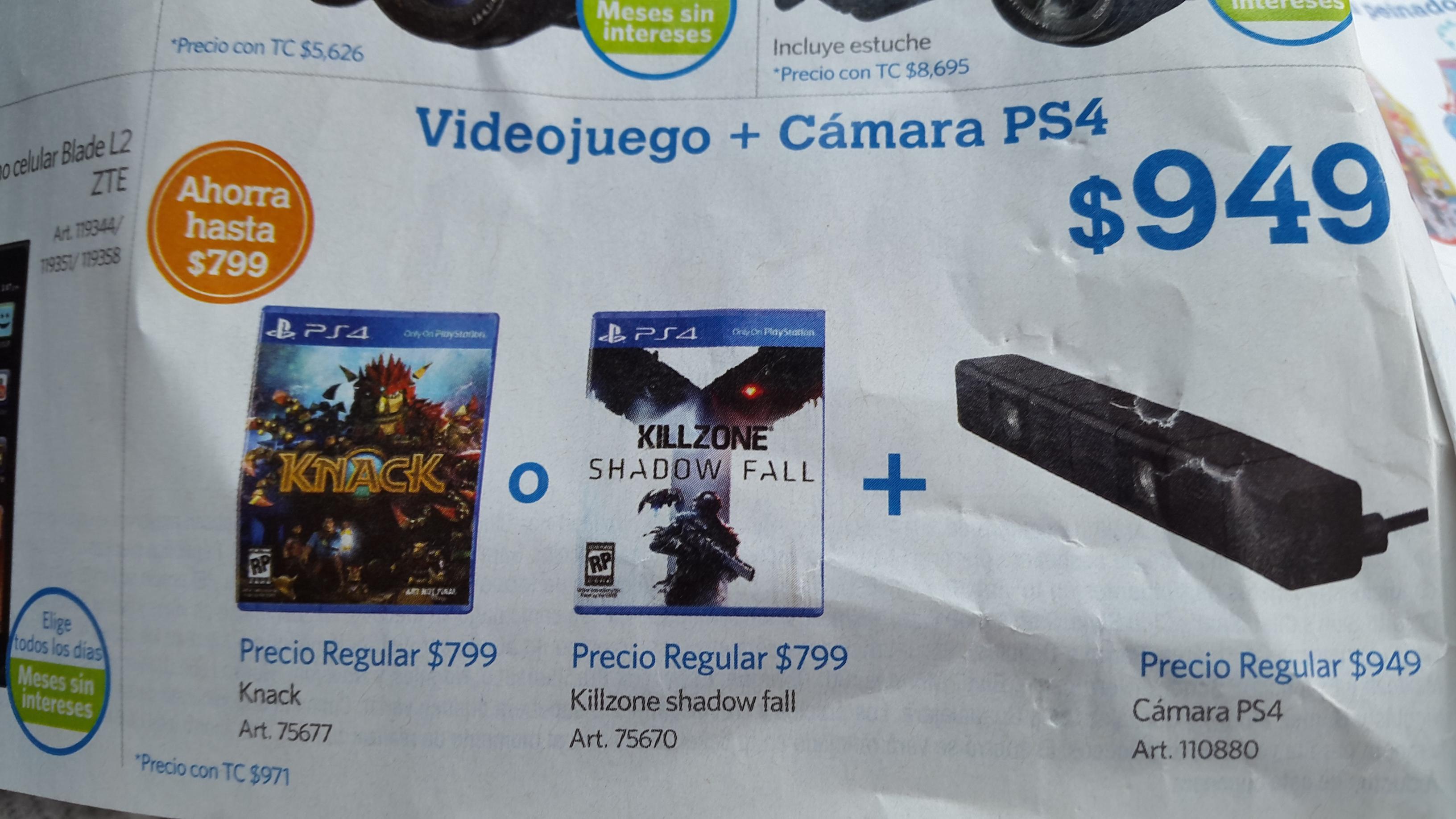 Sam's Club: cámara PlayStation 4 + videojuego $949