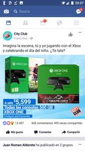 City Club: consola Xbox One 500GB a $5,039 con Banamex a 12 MSI