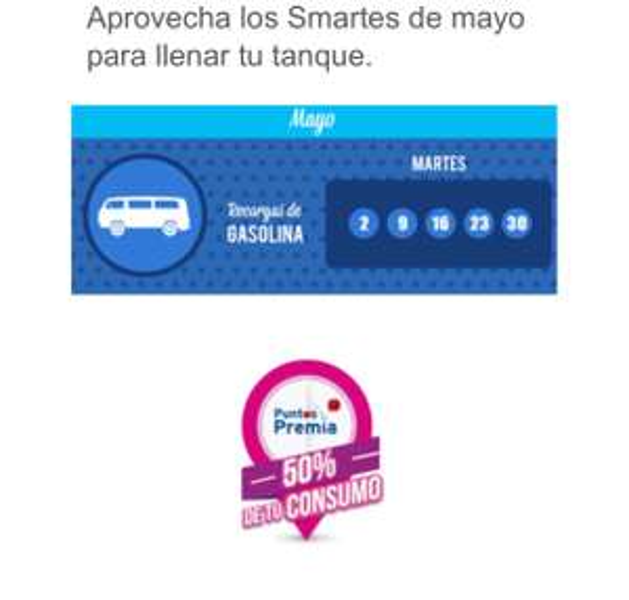CitiBanamex: Smartes de gasolina todo mayo