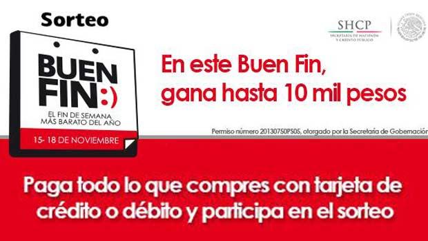 Sorteo El Buen Fin 2014: reembolso de 150,000 compras de hasta $10,000