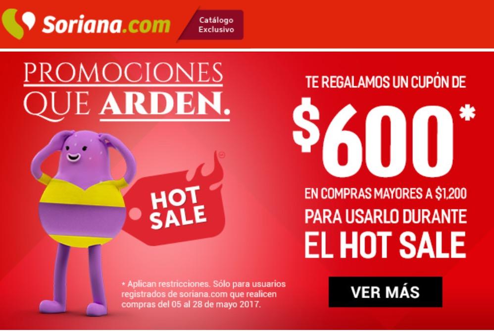 Soriana: compra del 5 al 28 de mayo y recibe un cupón para el Hot Sale