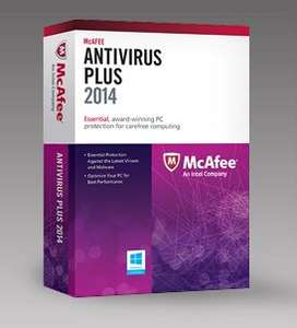 McAfee Total Protection 2014 gratis por 1 año (regular 80 dólares)