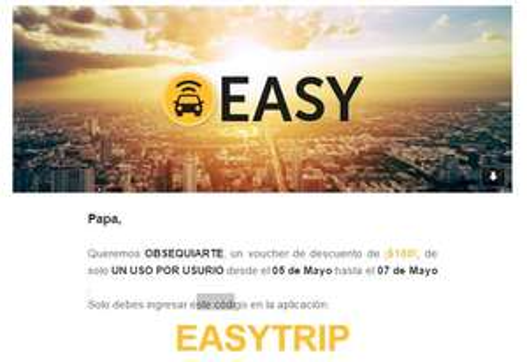 Easy Taxi: cupón $100 descuento
