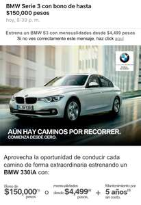 BMW: Serie 3 con bono de hasta $150,000