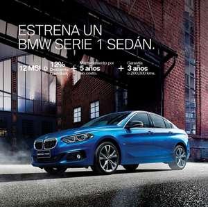 BMW serie 1sedan, Con 12 MSI  o 12% de descuento+ 5 AÑOS DE MANTENIMIENTO INCLUIDO